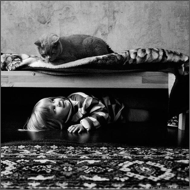 O amor entre uma menina e seu gato, uma série de fotografias que você jamais vai esquecer.