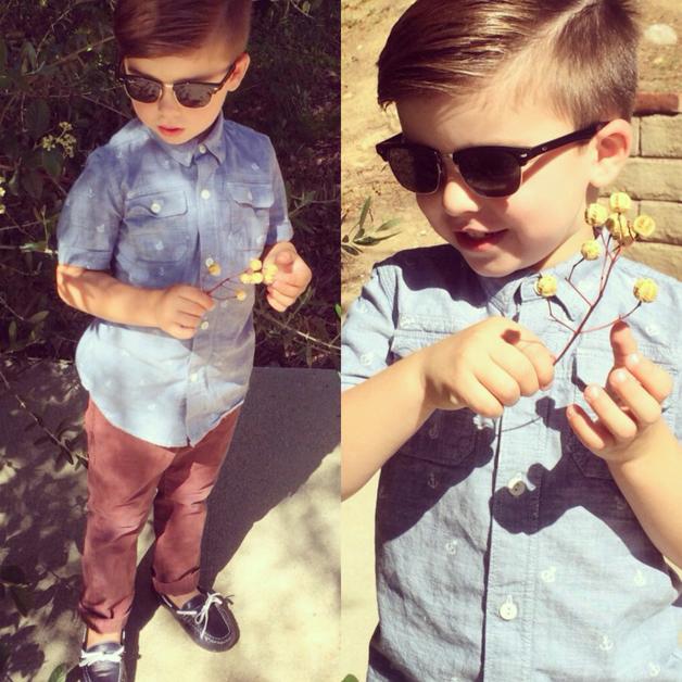 ba u00fa da moda masculina  menino de apenas 4 anos vira celebridade no instagram mostrando seu