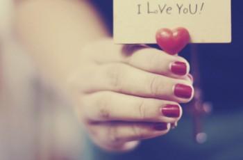 Eu te amo pelos nãos