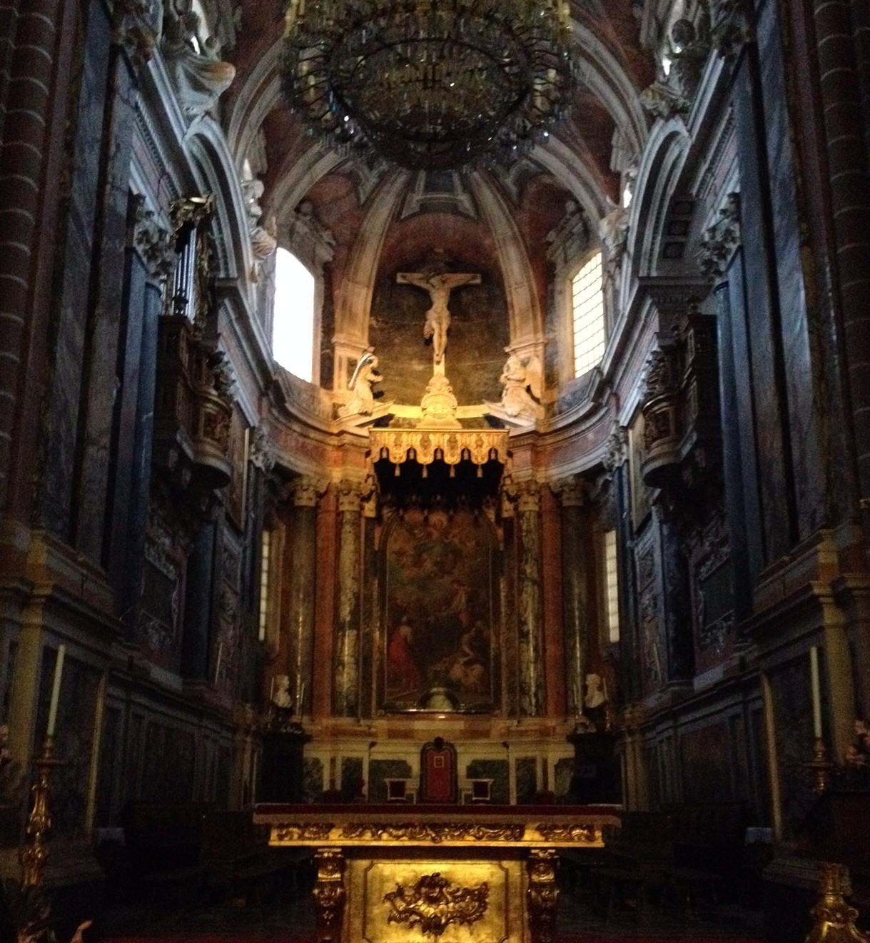 Interior da Basílica Sé de Nossa Senhora da Assunção (Catedral de Évora).