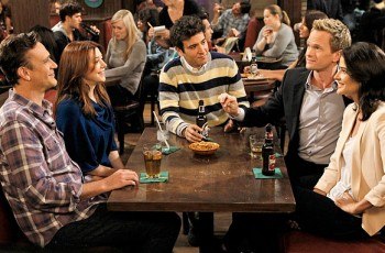 """Who Wants To Be A Godparent"" — When Lily and Marshall can't decide on godparents for Marvin, they put the gang to the test to see who would make the best one, on HOW I MET YOUR MOTHER, Monday, Oct. 15 (8:00-8:30 PM, ET/PT) on the CBS Television Network. Pictured left to right: Jason Segel, Alyson Hannigan, Josh Radnor, Neil Patrick Harris and Cobie Smulders  Photo: Cliff Lipson/CBS  ©2012 CBS Broadcasting, Inc. All Rights Reserved."