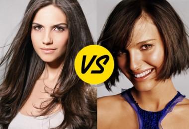 Mulheres com cabelo curto x Mulheres com cabelo comprido