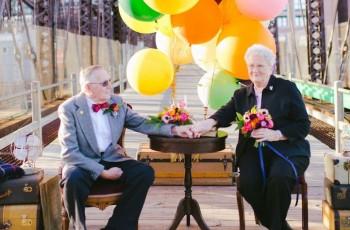 Casal de idosos comemora o aniversário de 61 anos de casados com o ensaio mais lindo que você já viu