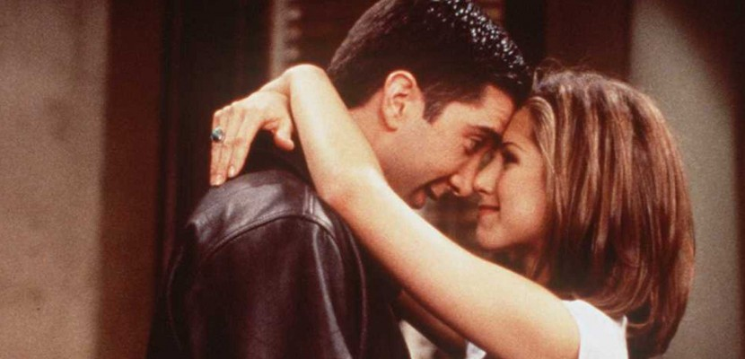 "1996 DAVID SCHWIMMER AND JENNIFER ANISTON OF THE TV HIT SERIES ""FRIENDS"""