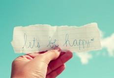 O primeiro passo para ser feliz